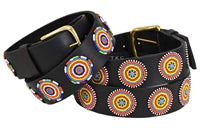 Beaded Belts 1 1/2 inch wide - Disc - Primary Circles