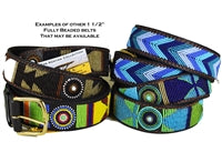 Beaded Belts 1 1/2 inch wide - Fully Beaded Patterns