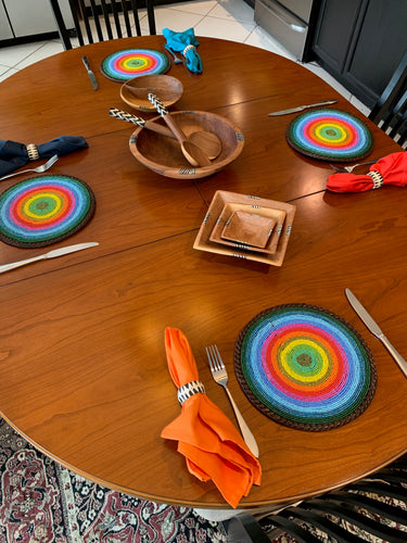 Beaded Placemats by The Kenyan Collection