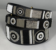 "Load image into Gallery viewer, ""Shades of Grey"" Beaded Dog Collar"