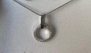 Circle & Bar Silver Necklace