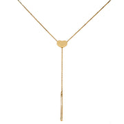 18K Gold Heart & Bar Necklace