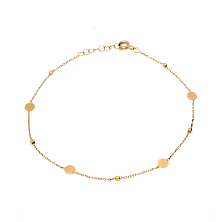 "18k Solid Yellow Gold ""Sol"" Anklet"