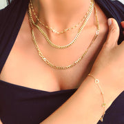 18k Gold Mariner Link Chain Necklace