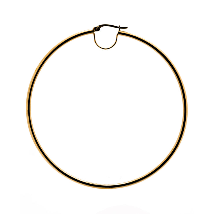 "18k Solid Yellow Gold ""Solar"" Hoops"