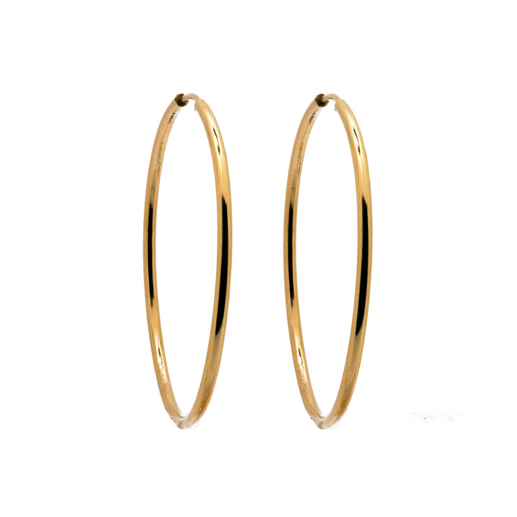 "18k Solid Yellow Gold ""Sunny"" Hoops"
