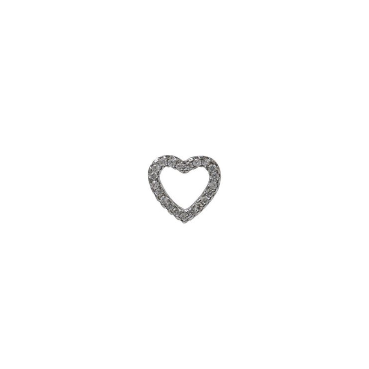 Icy Heart Silver Studs