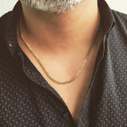 18k Solid Gold Cuban/Curb Link Chain Necklace