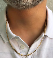 18k Gold Figaro/Cartier Link Chain
