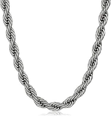 Steel Silver Rope Chain