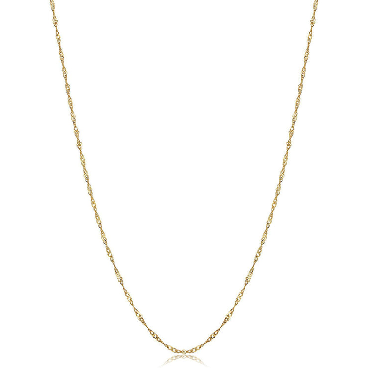 18K Gold Singapore Chain