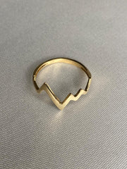 18K Gold Lifeline Ring