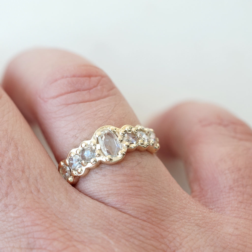Dream rose cut diamond band - Ana Cavalheiro