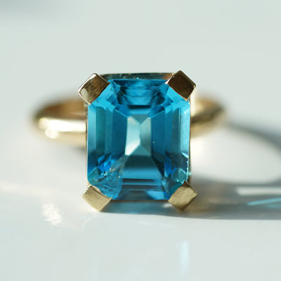 Blue topaz solitaire Ring