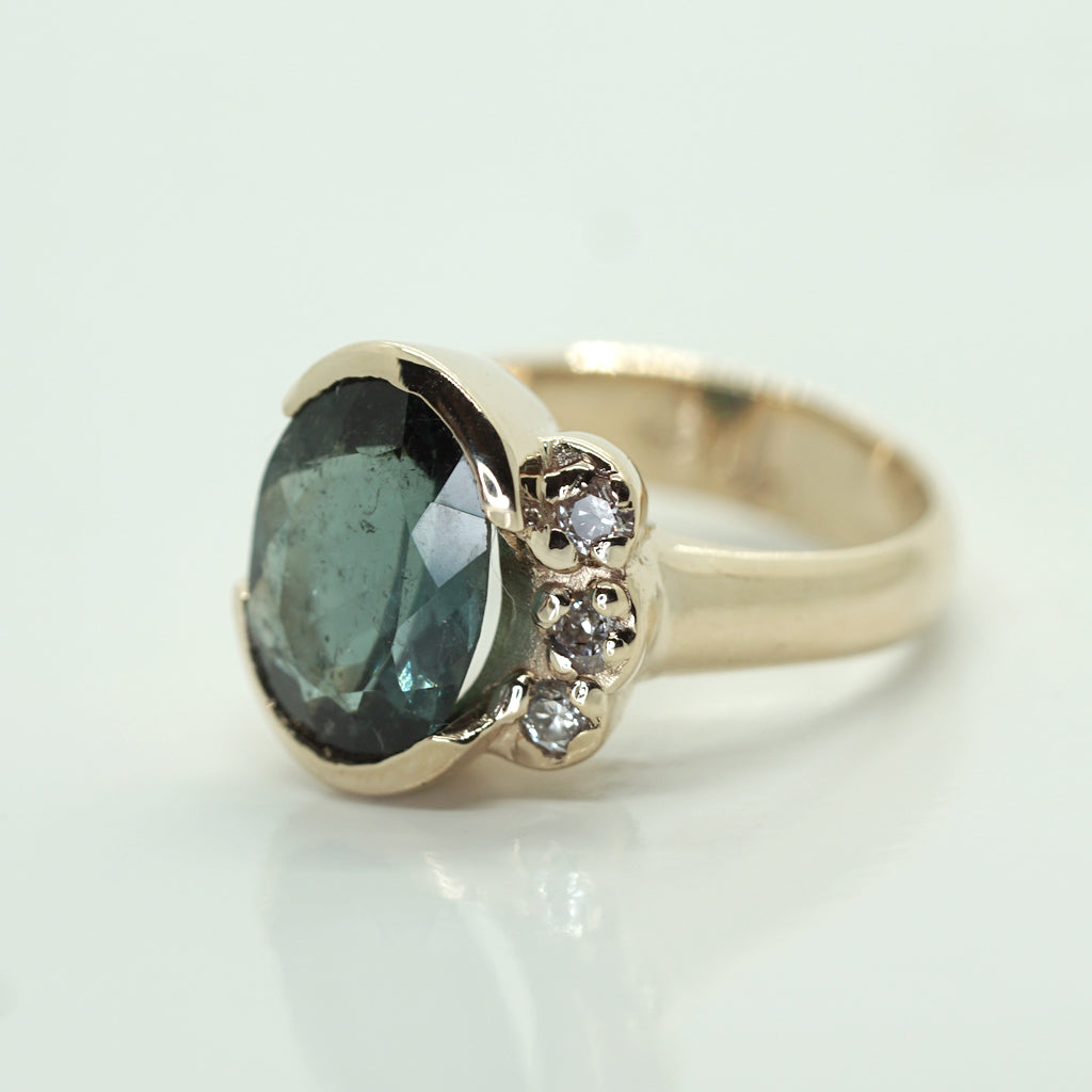 tourmaline baguette green gorgeous and rings tourmalind diamond ring kjeldsen engagement jewellery heidi a