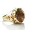 Smokey Quartz Gold ring with citrine