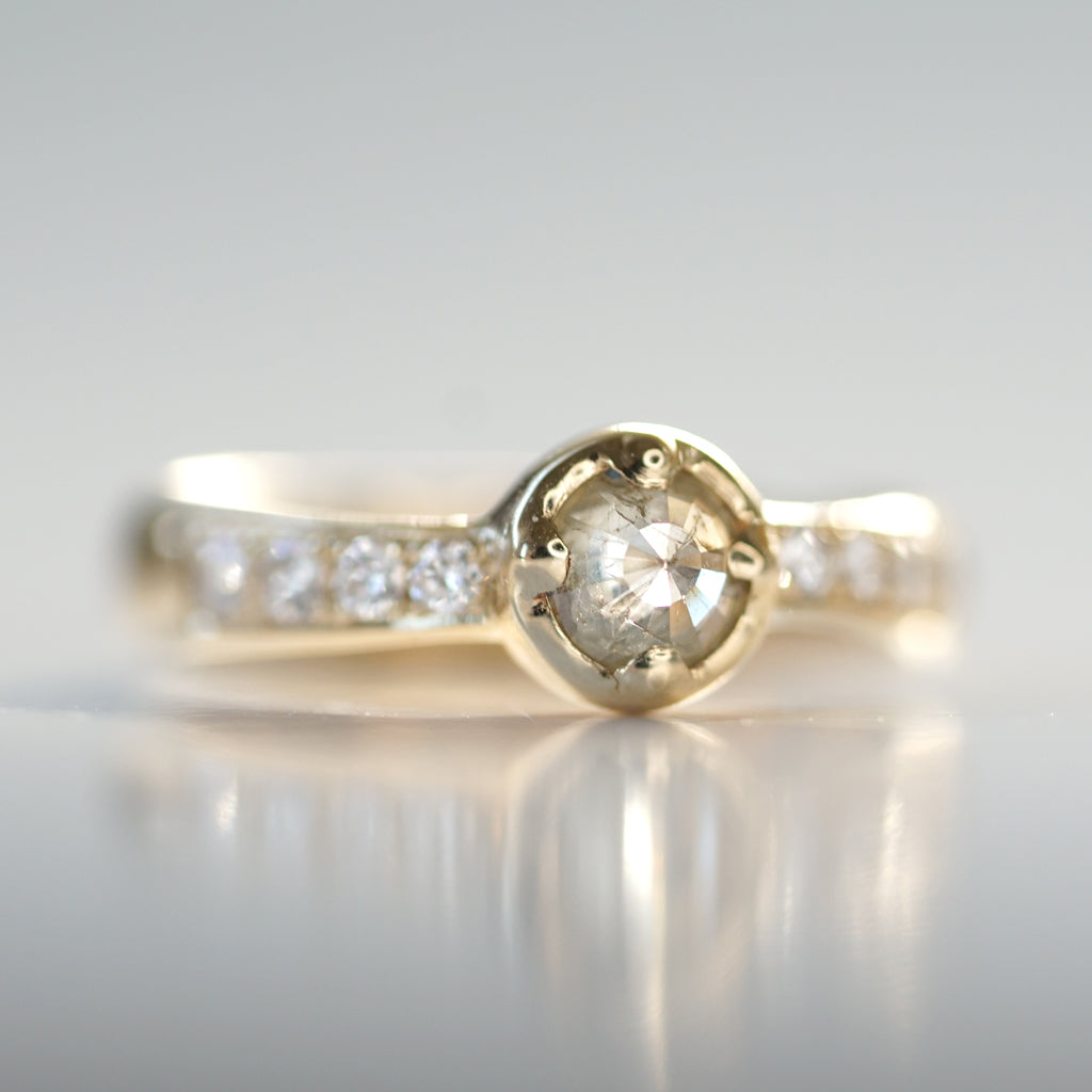Rose Cut Diamond Solitaire I