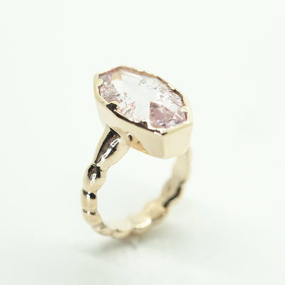 Kunzite Solitaire Ring