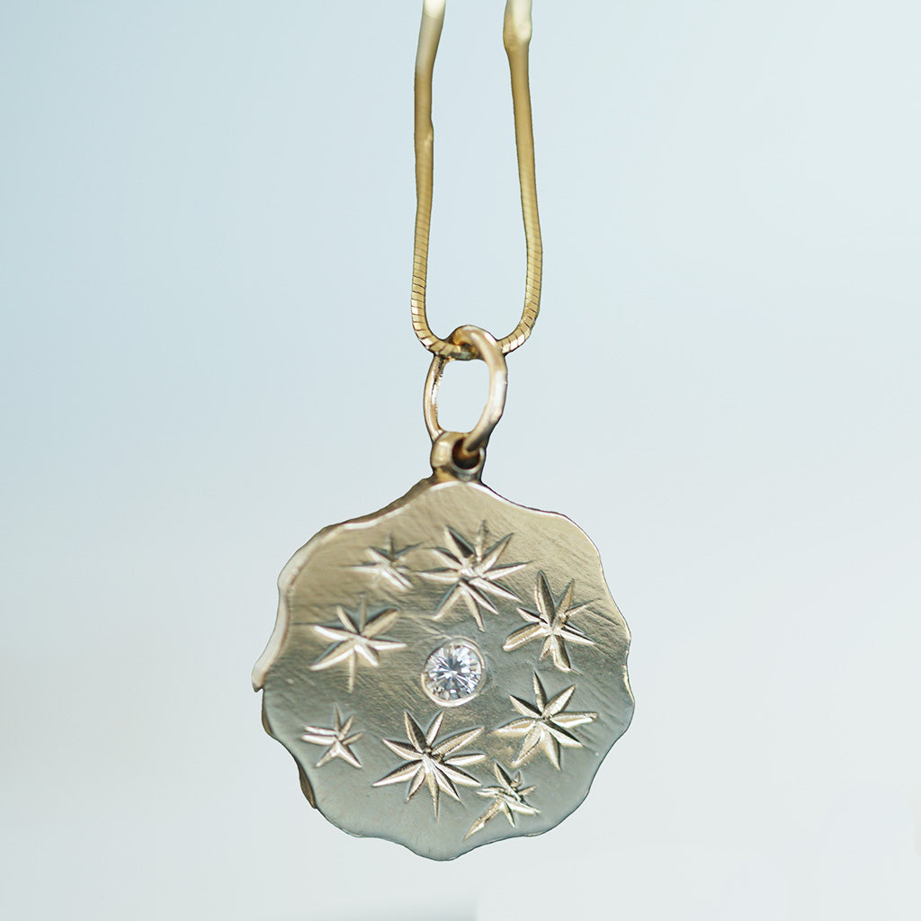 Star Medallion gold necklace