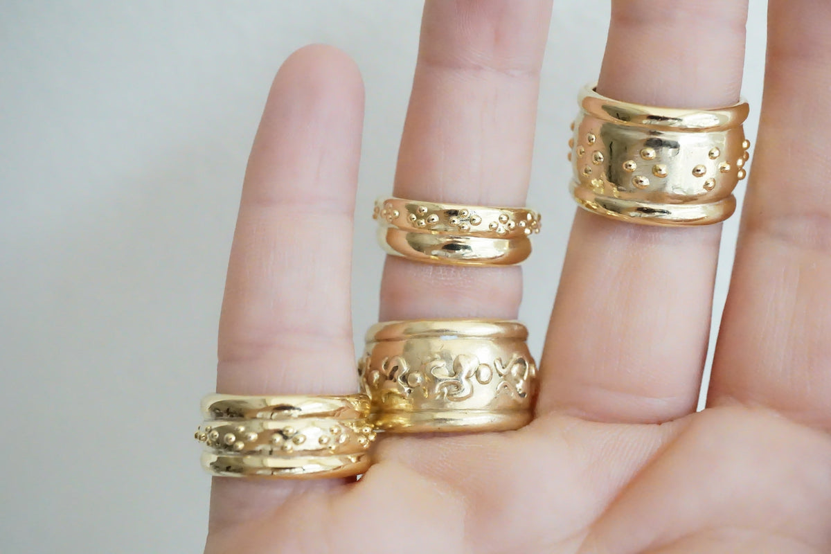 Romanesque Band Gold