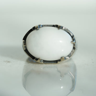 White quartz castle ring