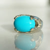 Turquoise Queen Castle ring