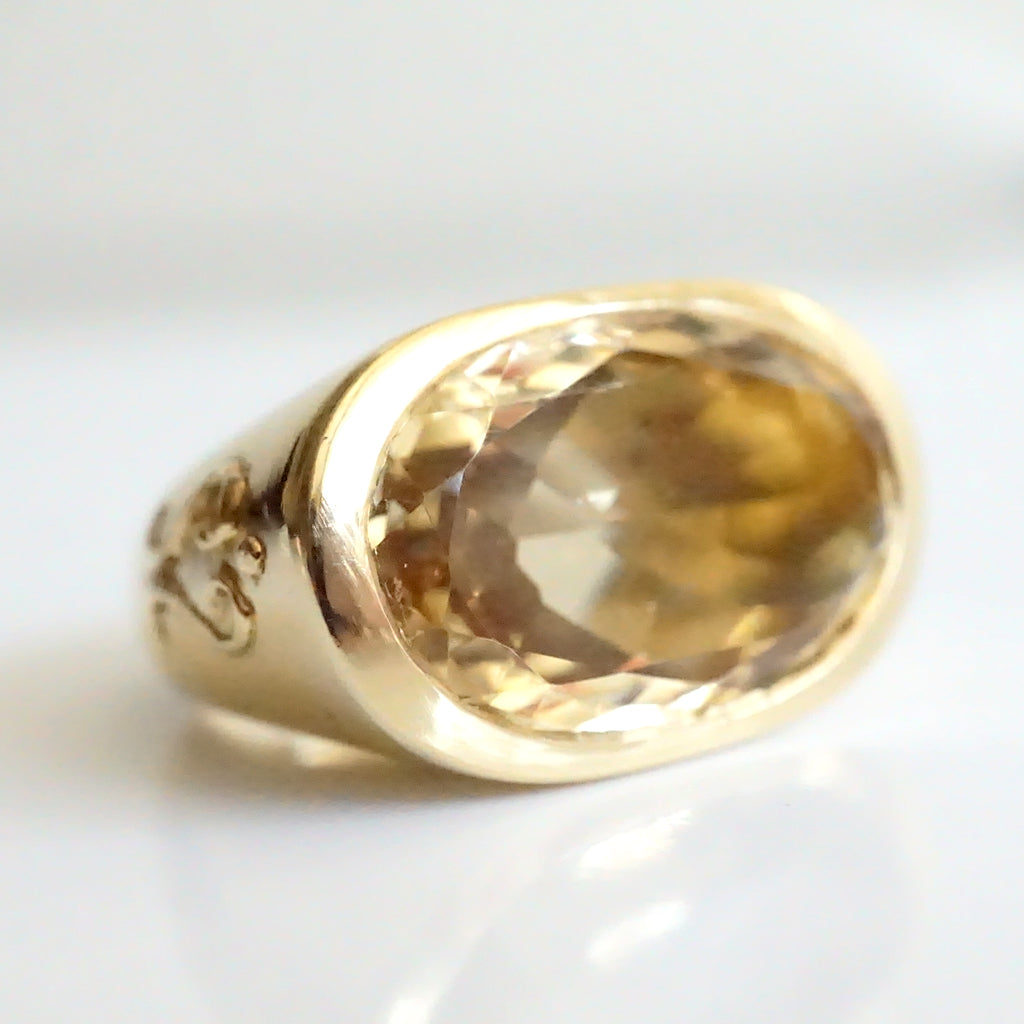 22ct Citrine Gold Ring