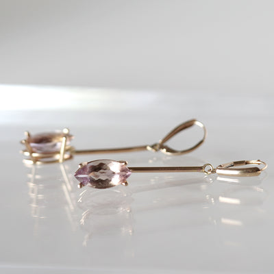 Ametrine Drop Earrings in gold