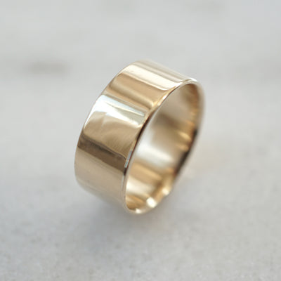 Gold flat band 7mm