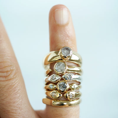 Thin Snake ring in silver