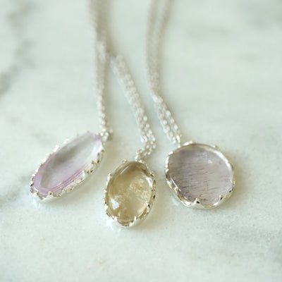 Phantom Quartz Silver necklace