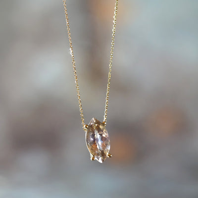 Ametrine Marquise gold necklace