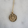 Floral Gold necklace medallion
