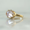 Kunzite Queen Ring in gold