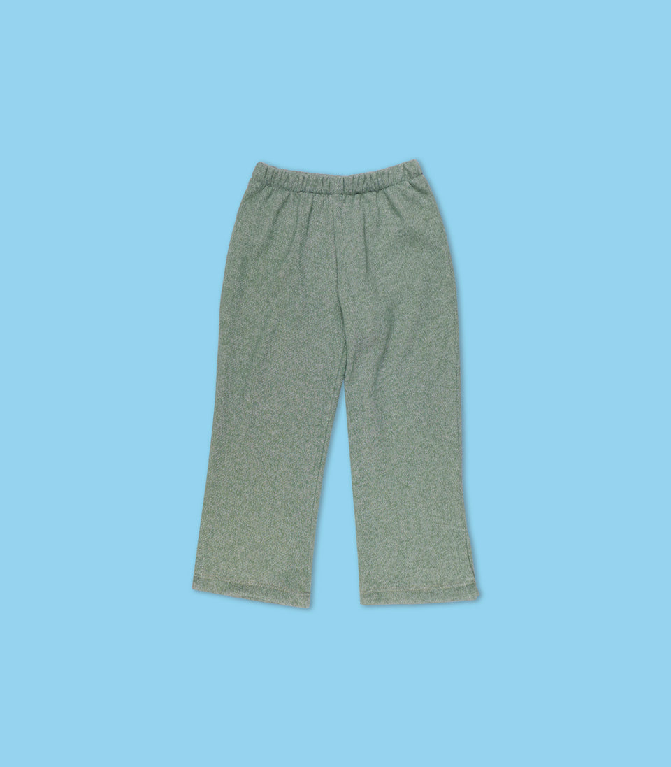 Terry Long Pants, Sage, Pants - bbobbo