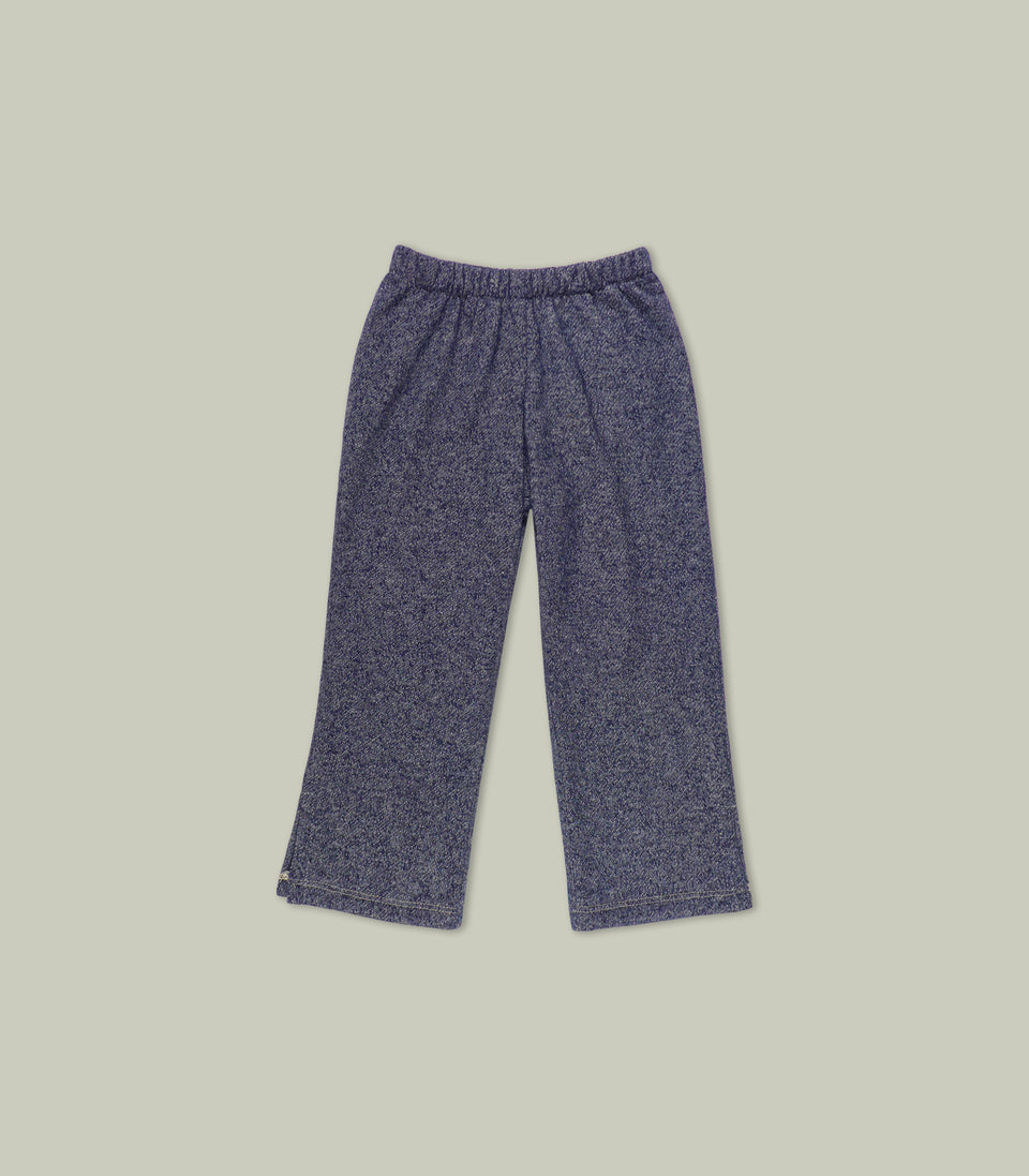 Terry Long Pants, Navy, Pants - bbobbo