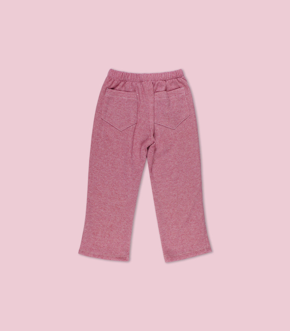 Terry Long Pants, Marsala, Pants - bbobbo