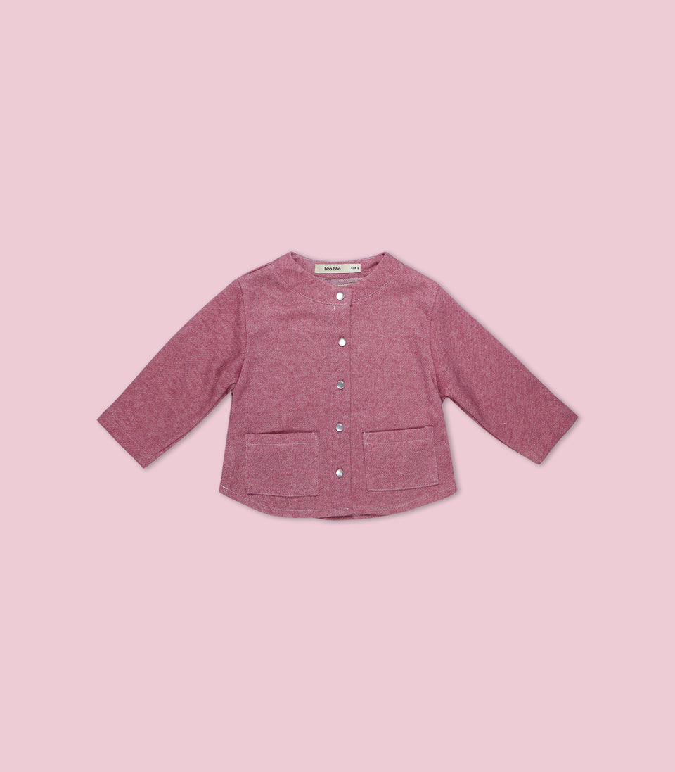 Terry Long Sleeve Button Up, Marsala, Shirts - bbobbo