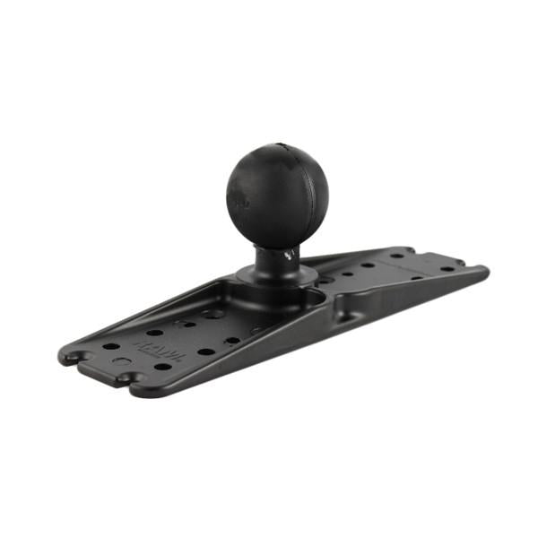 "RAM 3"" x 11"" Rectangle Plate 2.25"" Ball (RAM-D-111BU) - Image1"