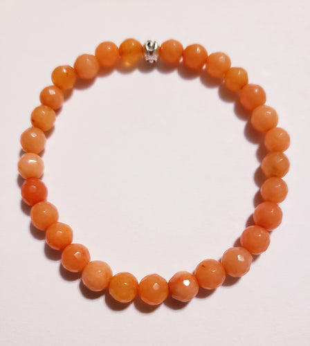 Orange Fire Agate Braclet