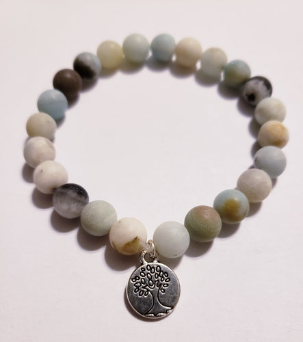 Amazonite Bracelet With Tree Of Life