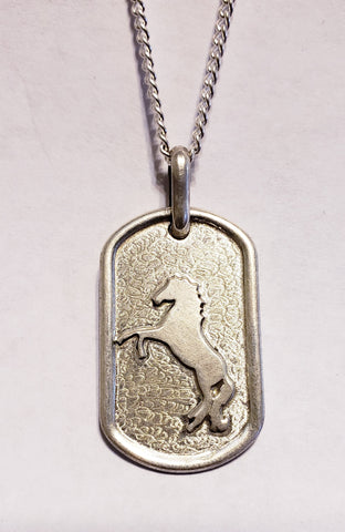 Horse Pendant With Necklace Sterling Silver
