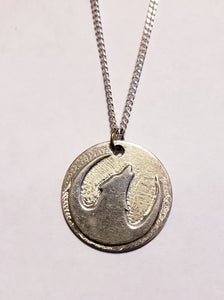 Wolf Pendant Sterling Silver Handmade