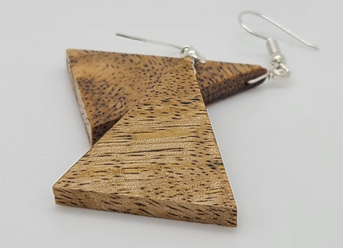 Mango Triangle Wood Earring