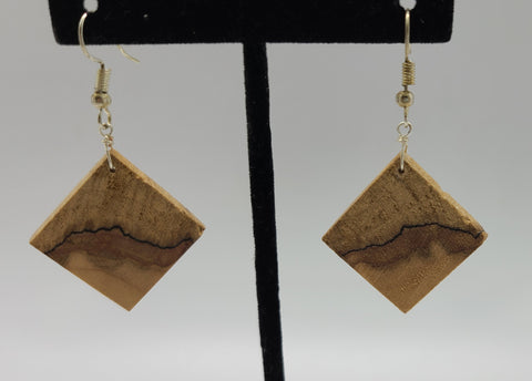 Spalted Maple  Wood Earring