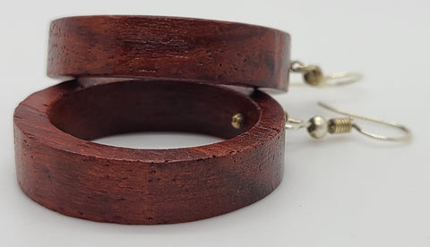 Padauk Circle Wood Earring