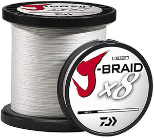 Daiwa J-Braid X8 2750YDS White Braided Line
