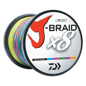 Daiwa J-Braid X8 3300YDS Multi Color Braided Line