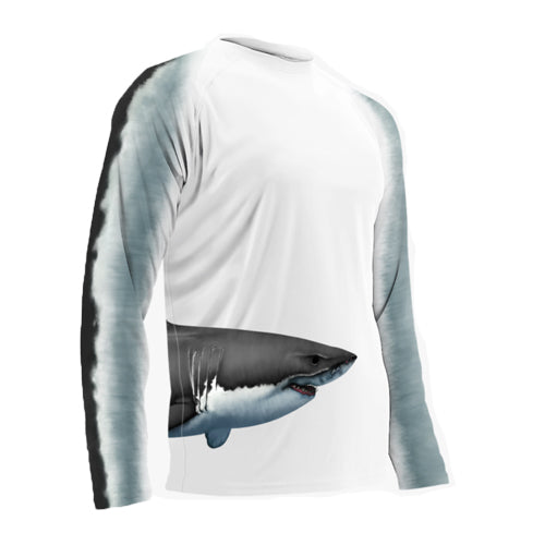 Adult L/S Great White Wrap Around Performance Shirts