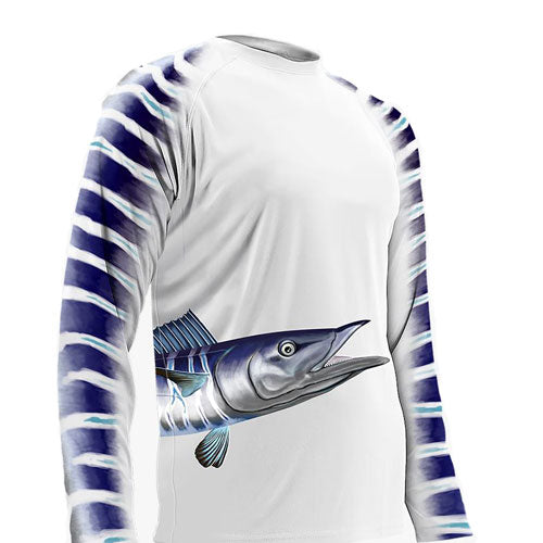 Youth L/S Wahoo Wrap Around Performance Shirt
